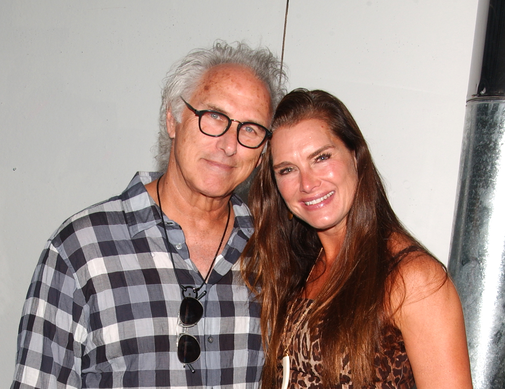 Artist Eric Fischl and Actress/Model Brooke Shields attend an event in celebration of Eric's forthcoming exhibition at the Dallas Contemporary at the former home and studio of artist Elaine de Kooing, East Hampton, NY.