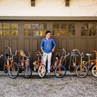 Collectors: Producer Larry Schwarz's Eco-Friendly Orange Bikes