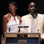 Host Stephanie Pope and choreographer Lloyd Culbreath presenting the Lifetime Achievement Award to Chita Rivera