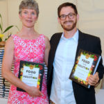 Peggy Kraus, Matthew Prescott, author of Food Is the Solution, guests received a signed copy.