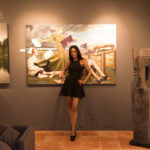 "Guest at ""Kiss & Tell"" Opening Reception at RJD Gallery"