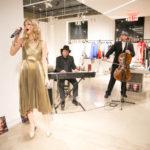 Sasha Lazard singing a special holiday song