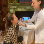 Cristina Cuomo Receiving Biologique Skin Anlysis