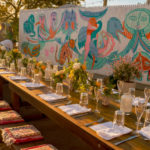 Boho Manifesto dinner for Julia Chaplin with abcv chef Neal Harden
