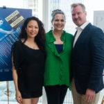 Dancer Kristine Bendul with TONY Award-winning host Cady Huffman and Eric Gunhus