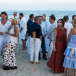 Guests mingle at the Purist & Cucinelli Cookout at Atlantic Beach