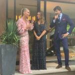 Molly Sims, Cristina Cuomo & Fabrizio Volterra give a toast