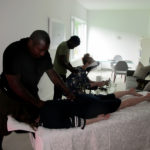 Alexson Therapy treats the guests with mini-massages after lunch